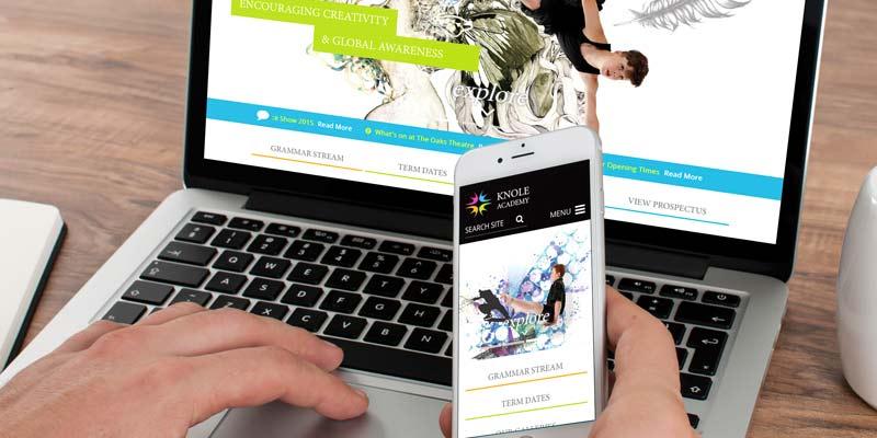 Knole academy branding and prospectus design