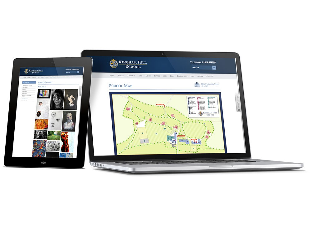 Feature rich private school website design