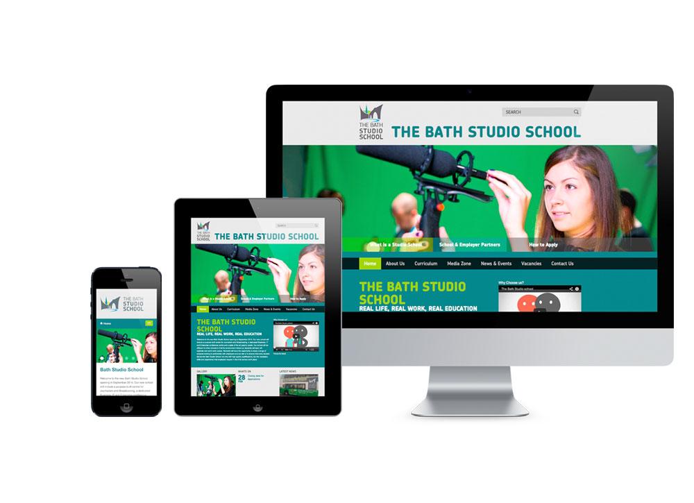 Responsive website for studio schools