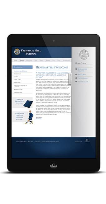 Mobile Responsive Kingham School Website