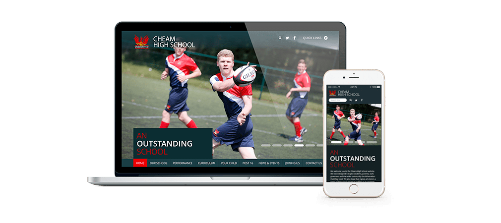 Cheam High School Responsive Website Design
