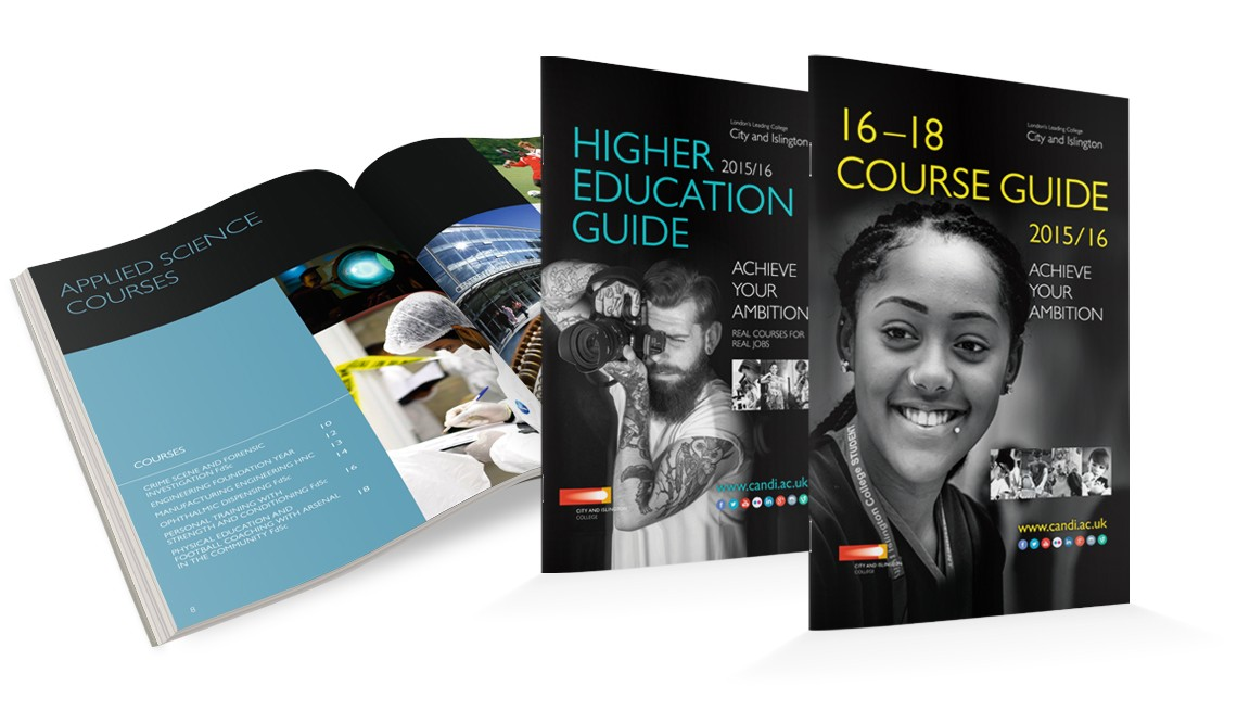 Engaging graphics and creative design bring your prospectus to life