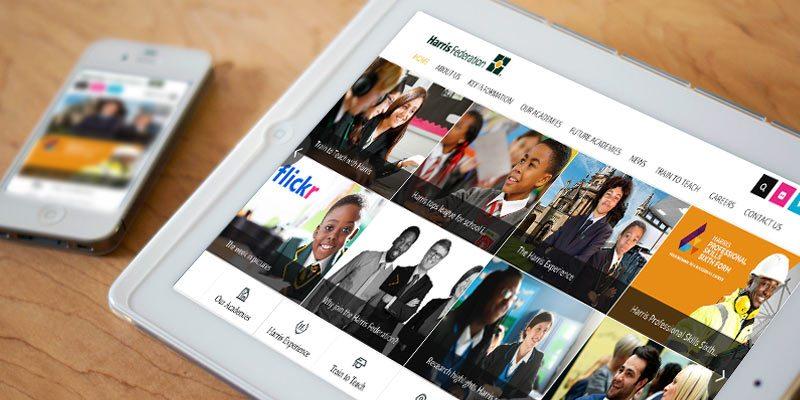 Harris Federation Trust branding case study