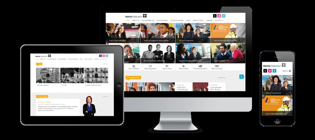 Harris Federation school website design and build