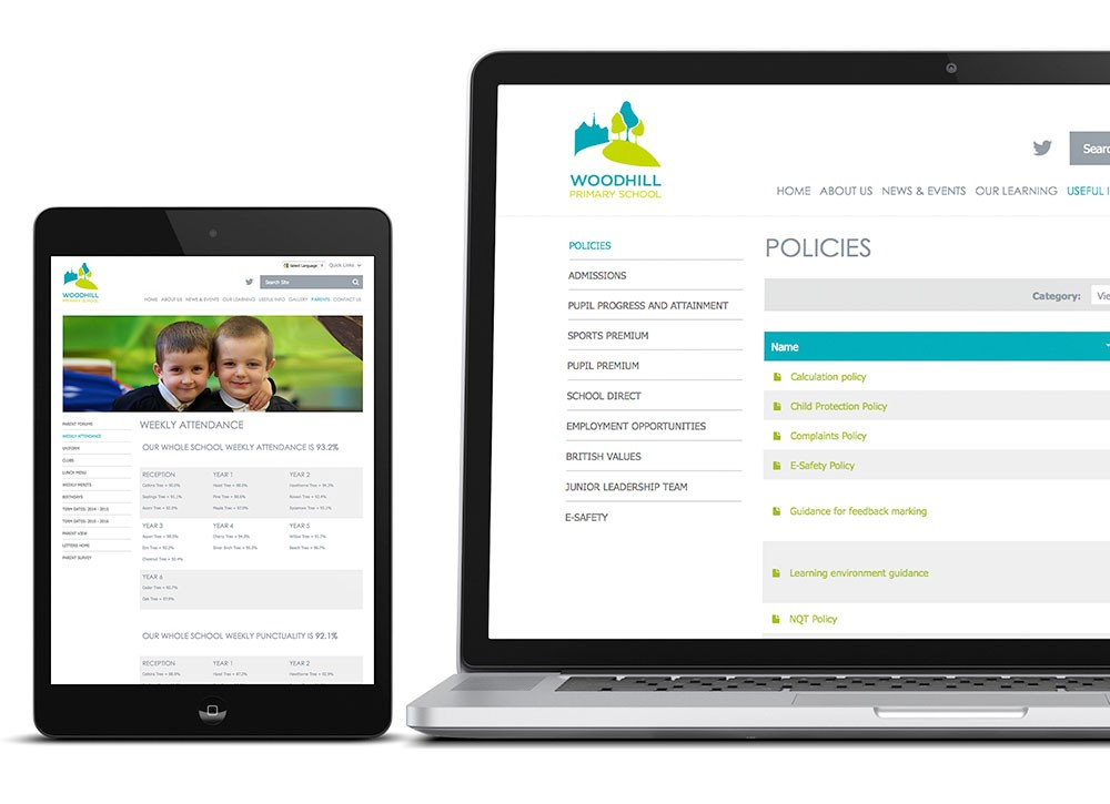Feature rich primary school websites