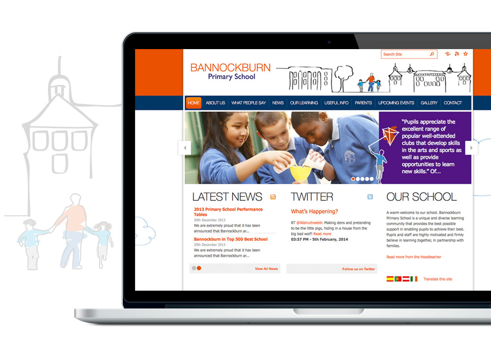 Websites for primary schools