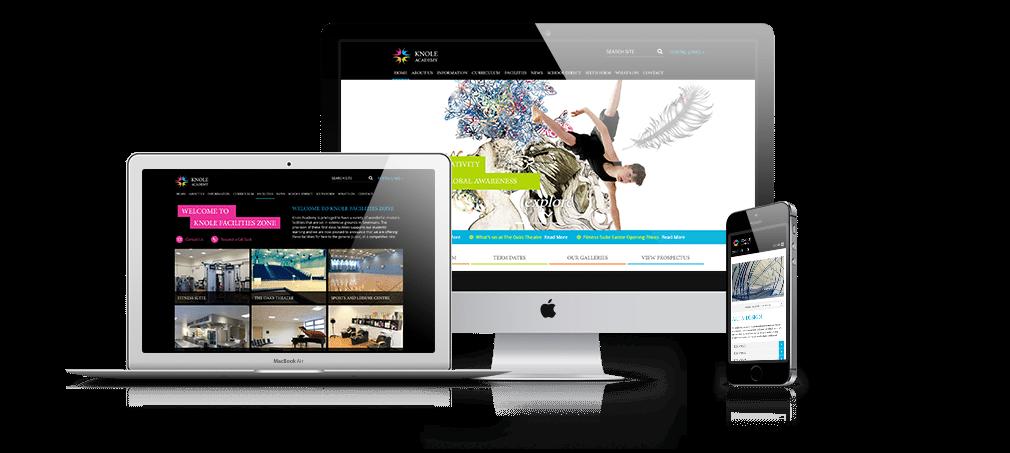 Responsive academy websites