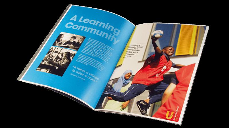 Beautifully designed school brochure