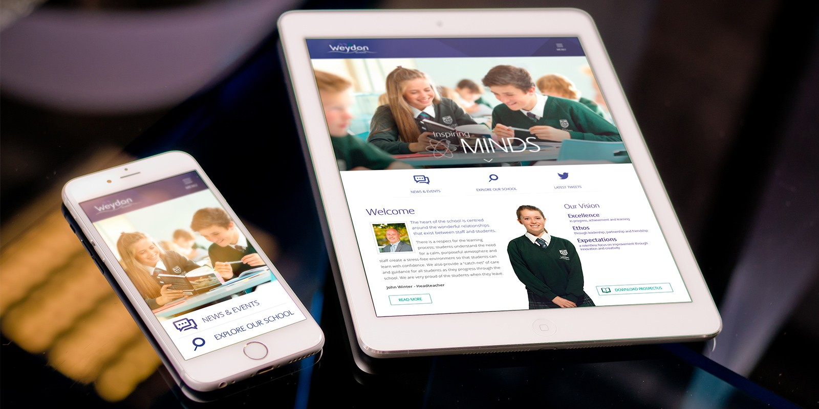 Weydon School Responsive Website Design