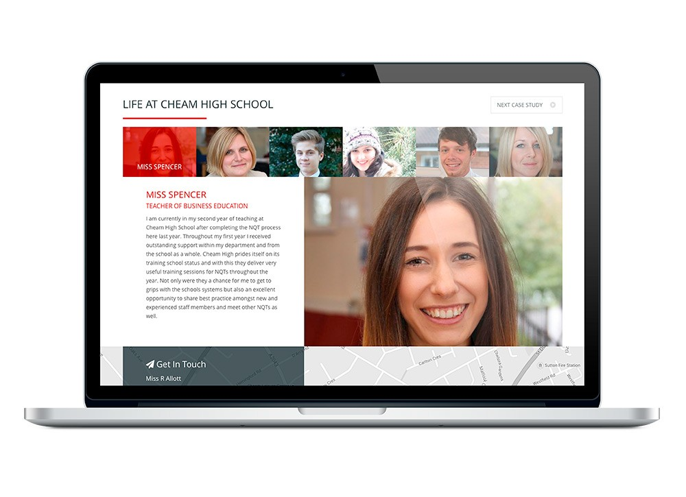 Cheam High School Mobile Responsive Website Design