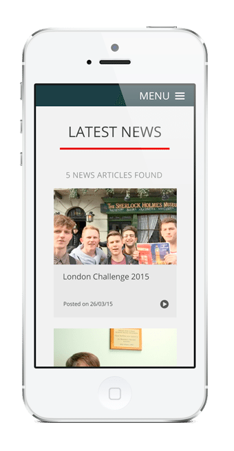 Cheam High School Mobile Friendly Website Design
