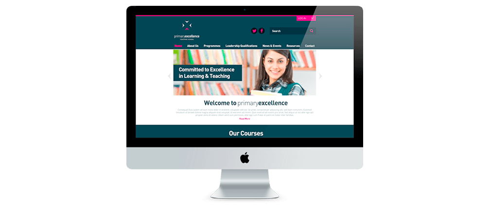 Primary Excellence Teaching School Website Design