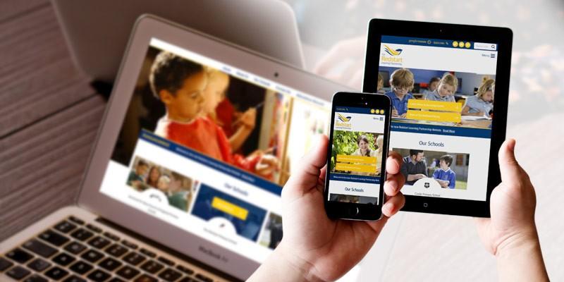 Redstart Learning Partnership School Case Study Responsive Web Design