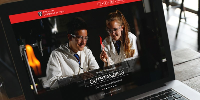 Chesham Grammar School website design