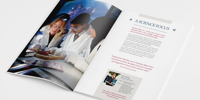 Wembley High Technology College branding,website and prospectus design