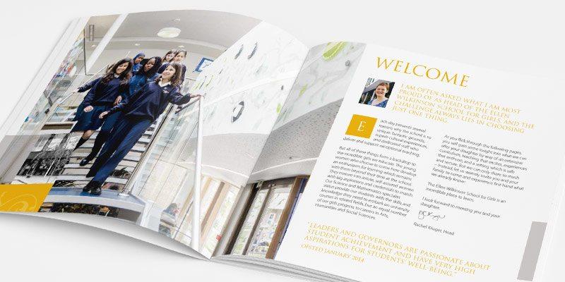 Ellen Wilkinson School for Girls prospectus design