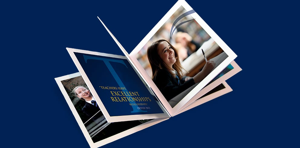 deepings school prospectus design