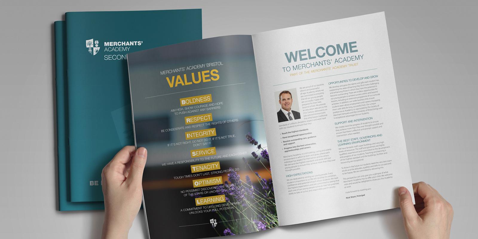 Merchants' Academy Trust Branding - School Prospectus - Website Design and Build