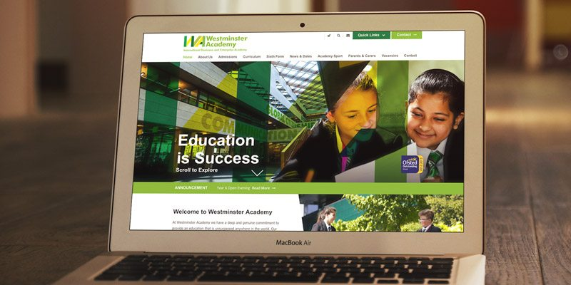 Westminster Academy Website and Branding Case Study