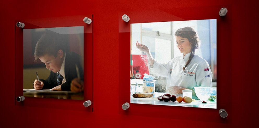 Deepings School interchangable photoboards