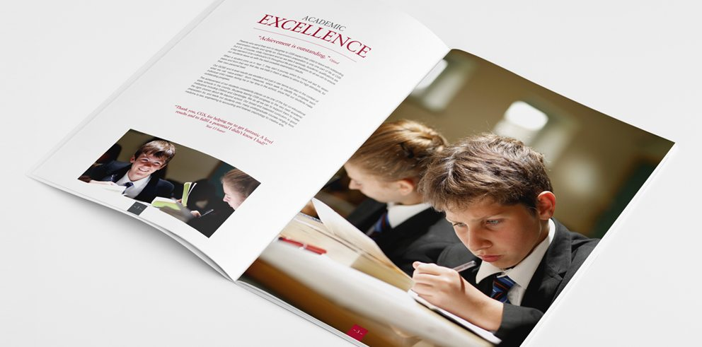 school and academy prospectuses designed and printed by Cleverbox