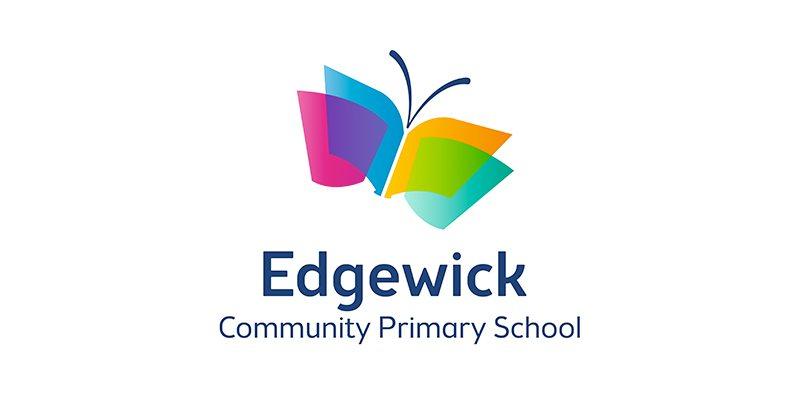 Edgewick Community Primary School logo and branding case study