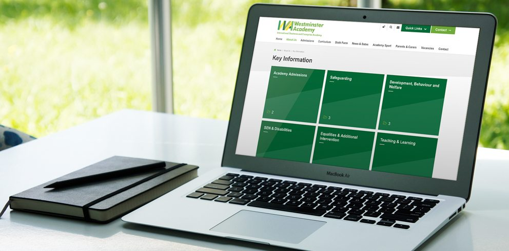 Westminster Academy website design and build