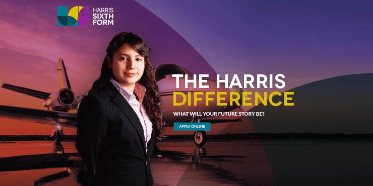 Harris Sixth Form School Website Design