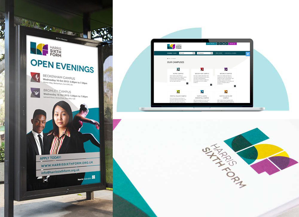 HArris Sixth Form School Branding and Design