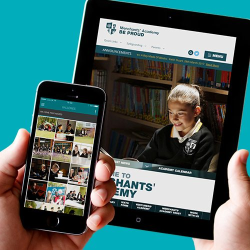 Merchants Academy Website on and iPad and iPhone