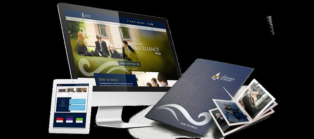 Deepings School website and prospectus design