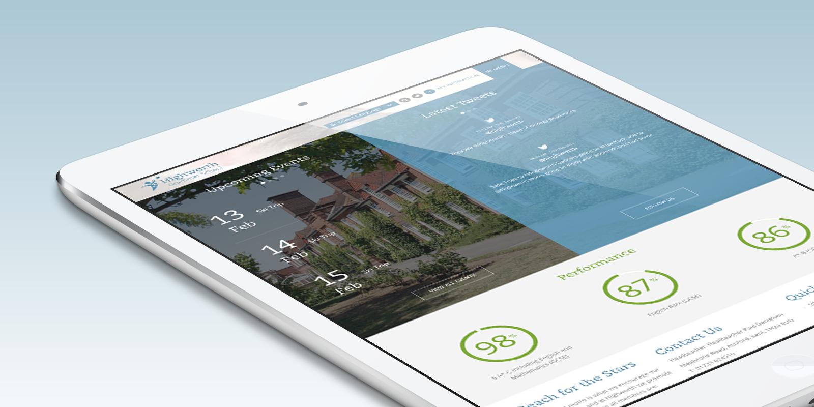 Highworth Grammar School Website and School Prospectus Design