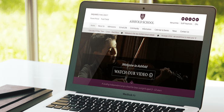Ashfold School Website Design Preview