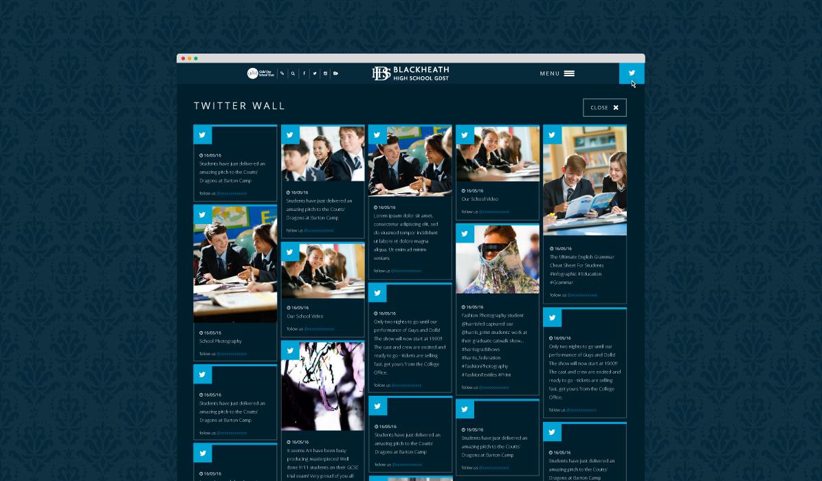 Blackheath High School Twitter Wall Module