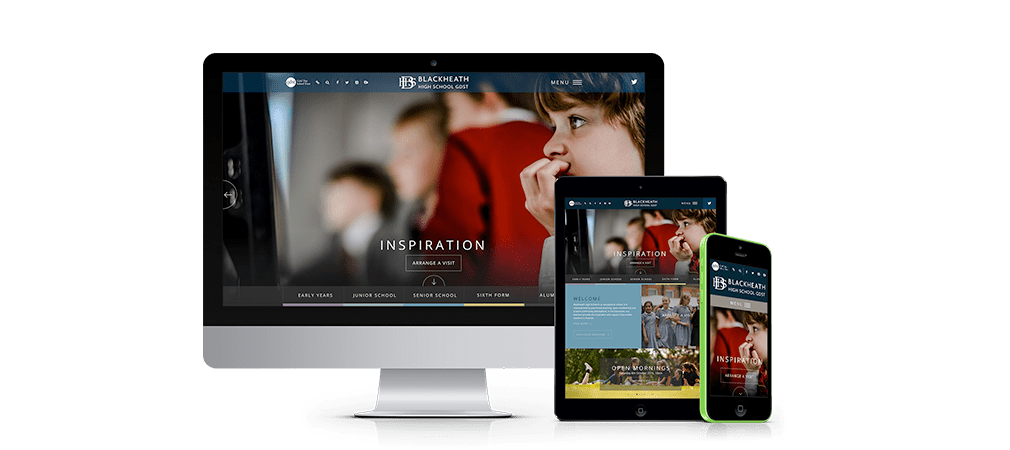 Blackheath High School Website on different devices