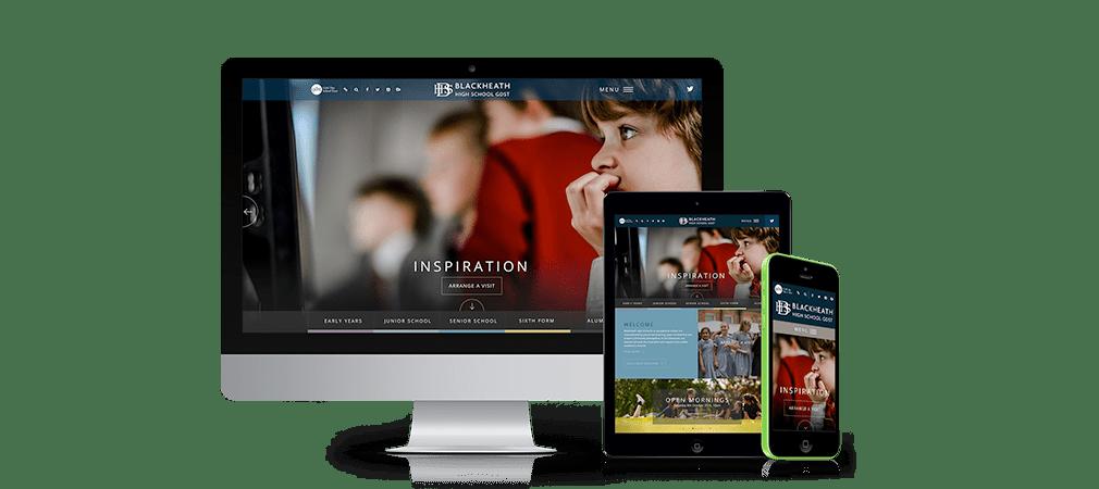 Blackheath High School Website on different devices