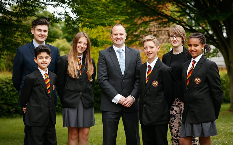 Staff and students at Burnham Grammar School Photography