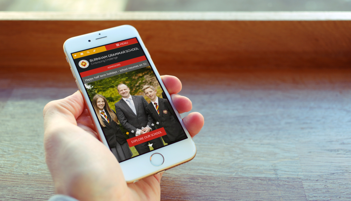 Burnham Grammar School Website Design
