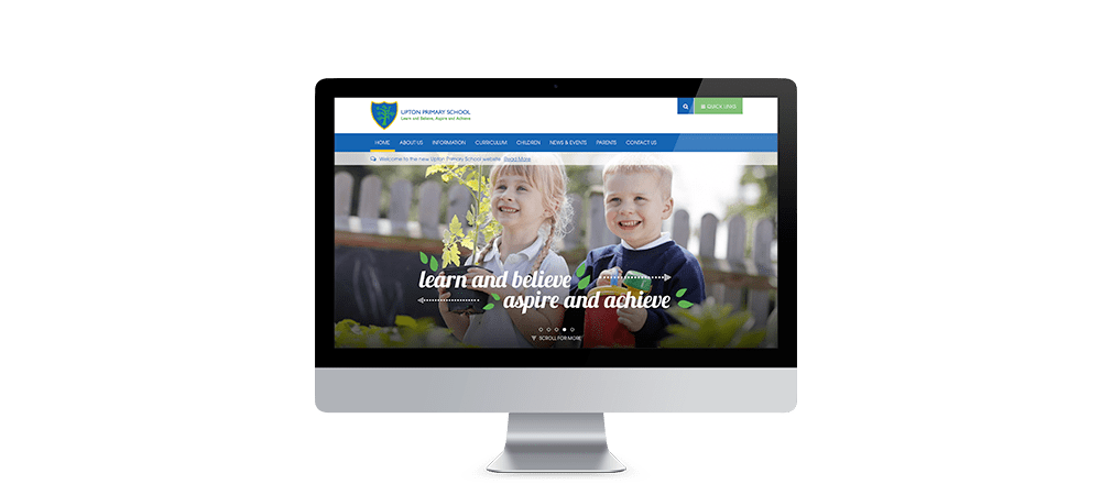 Upton Primary School Website home page