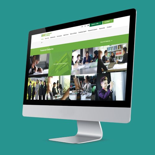 Westminster Academy Website by Cleverbox