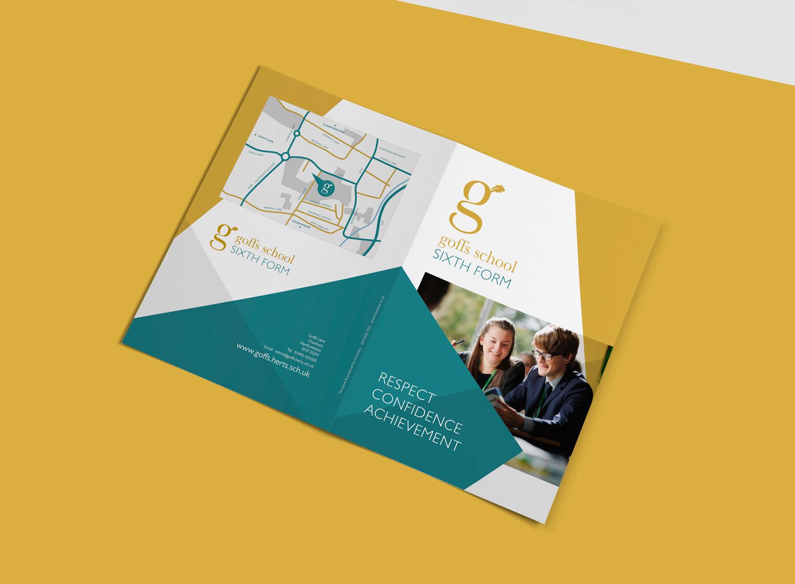 Goffs School Sixth Form Prospectus design