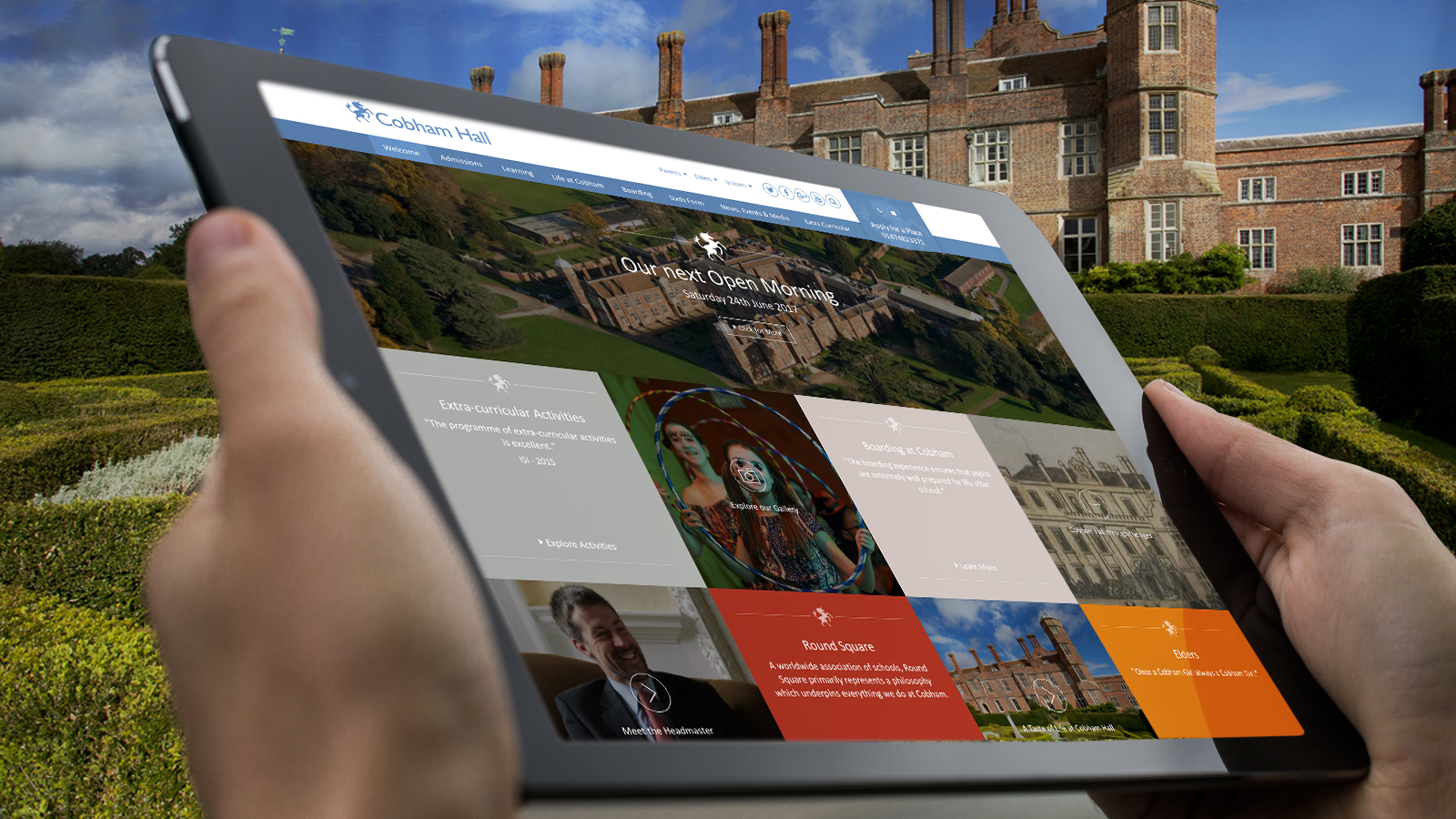Chobham Hall school website design for schools