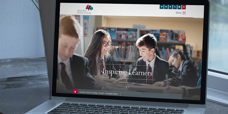 Hinchley Wood School Website and Photography Case Study