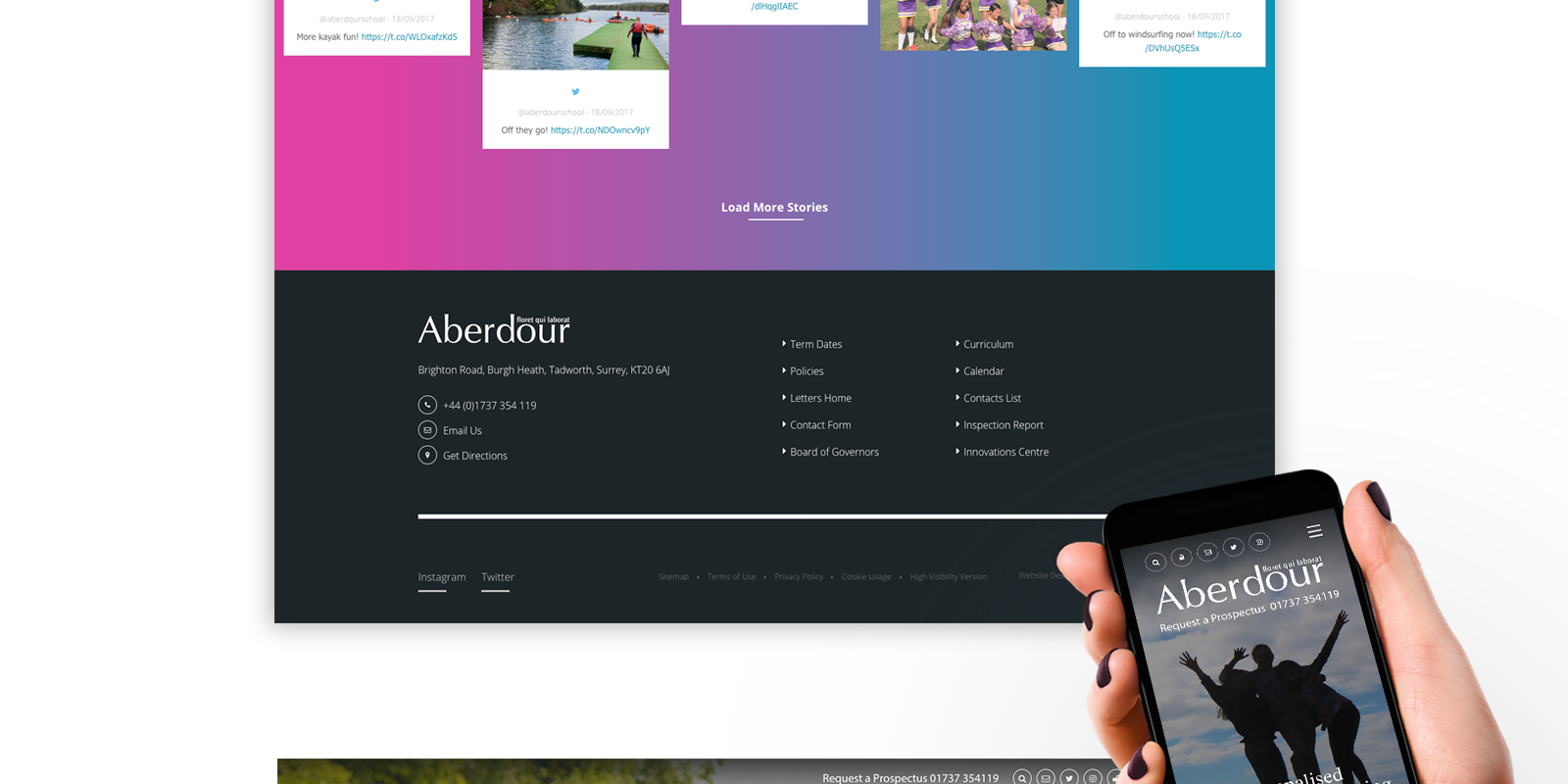 School website design and development
