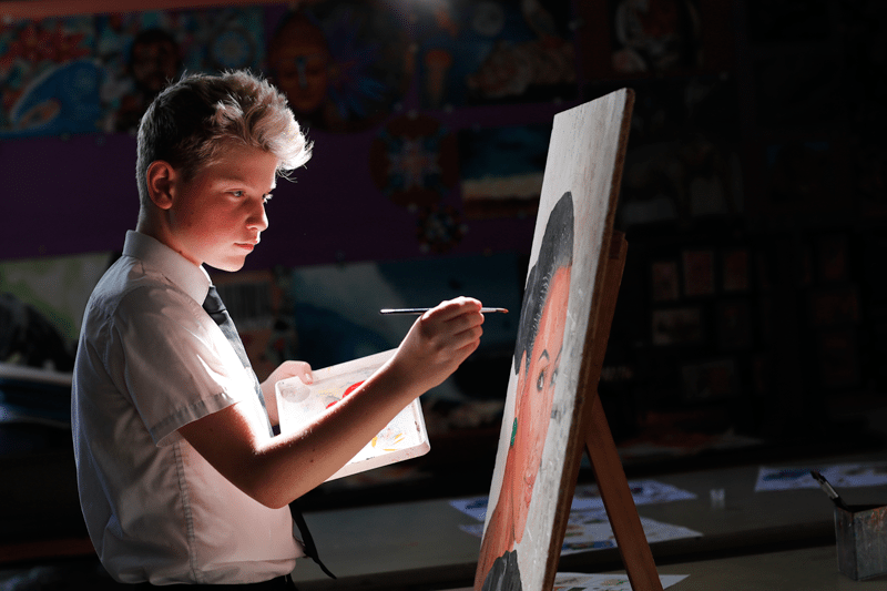Streetly Academy Student Painting Photography