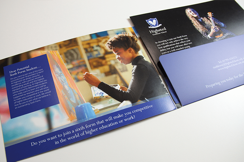 Highsted Grammar School Prospectus Insert Page