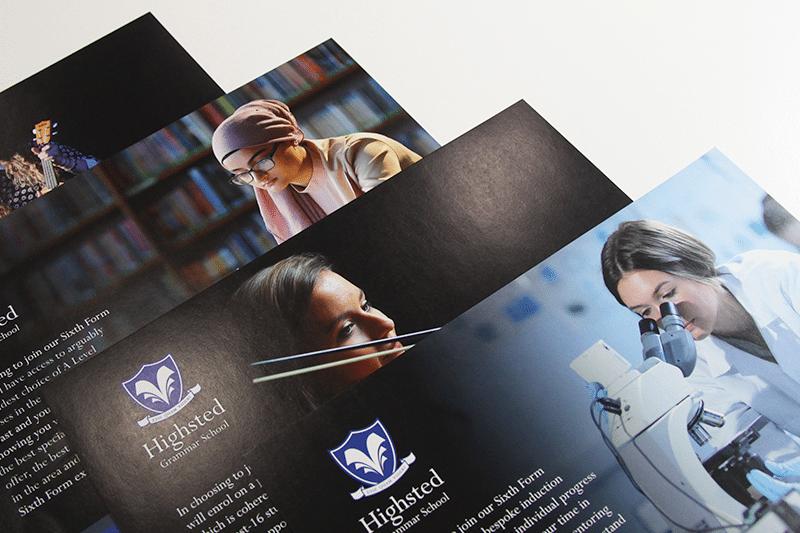 Highsted Grammar School Prospectus Insert Card