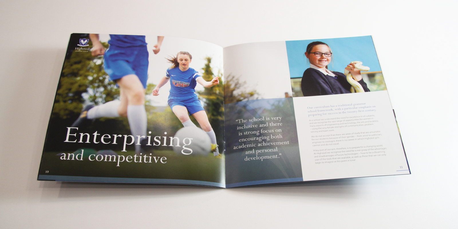 Highsted Grammar School Prospectus Pages