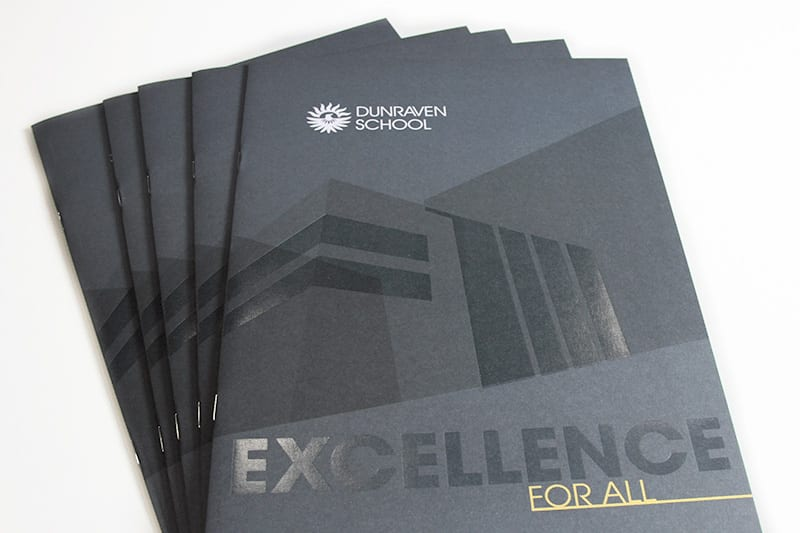 photo of Dunraven School prospectus cover