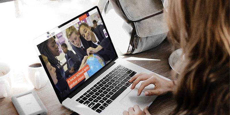 Student Browsing School Website